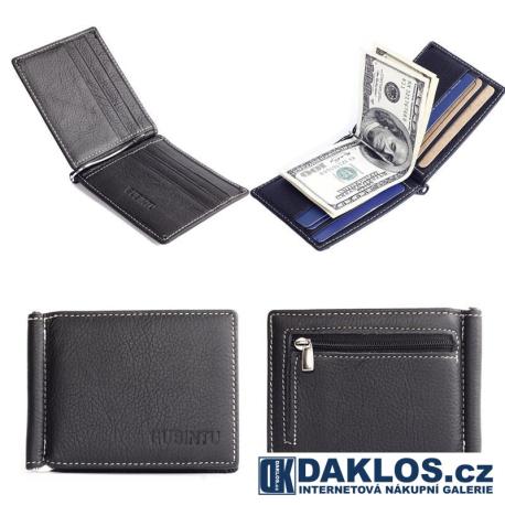 Super tenká elegatní kožená pánská peněženka - pravá kůže / useň