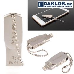 Mini USB Flash disk OTG 8 GB pro IOS iPhone / iPad / iPod - kovová