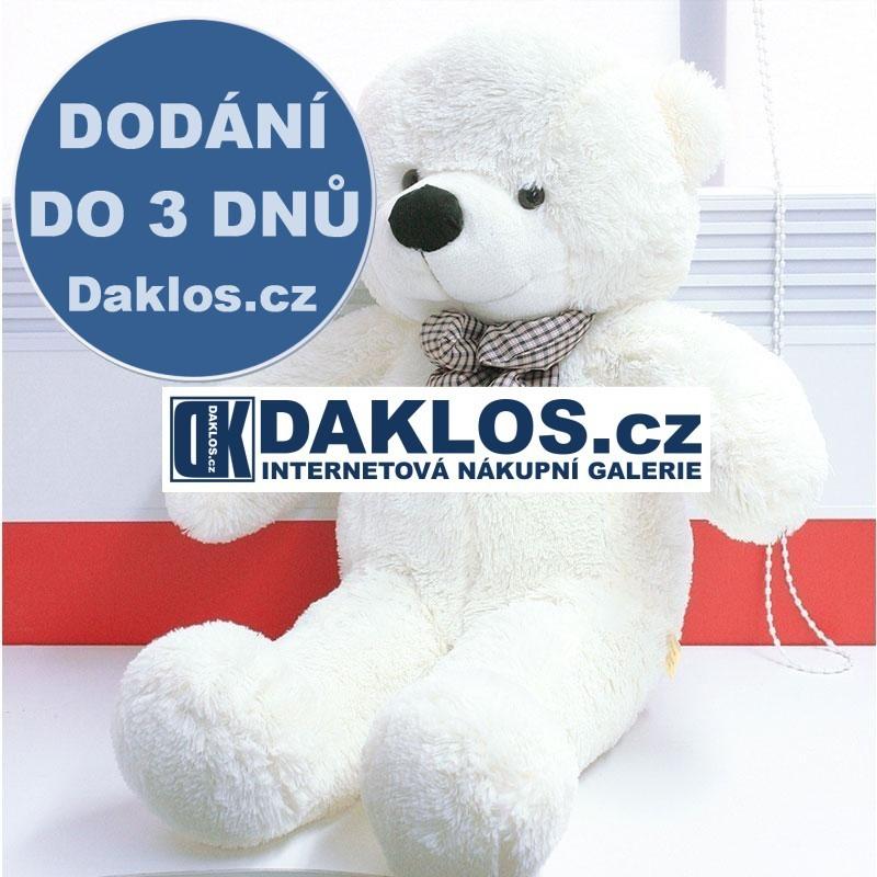 Gigantický - 90 cm - velký plyšový medvěd - 100% bavlna - bílý