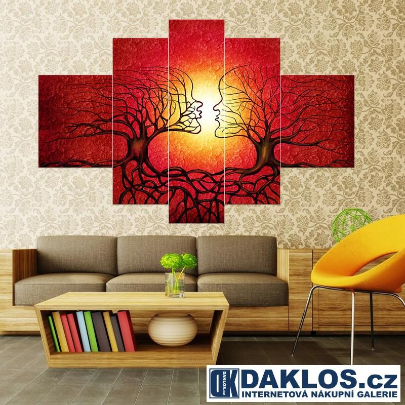 5x Obraz / Plátno / Plakát na zeď - Příroda / Láska / Stromy