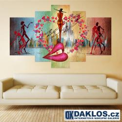 5x Obraz / Plátno / Plakát na zeď - Láska / Tanec
