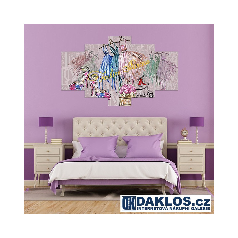 5x Obraz / Plátno / Plakát na zeď - Šaty / Móda