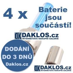 4 x Svíticí LED tyčinka / čepička / dekorace na ventilek pro kolo / auto / motocykl