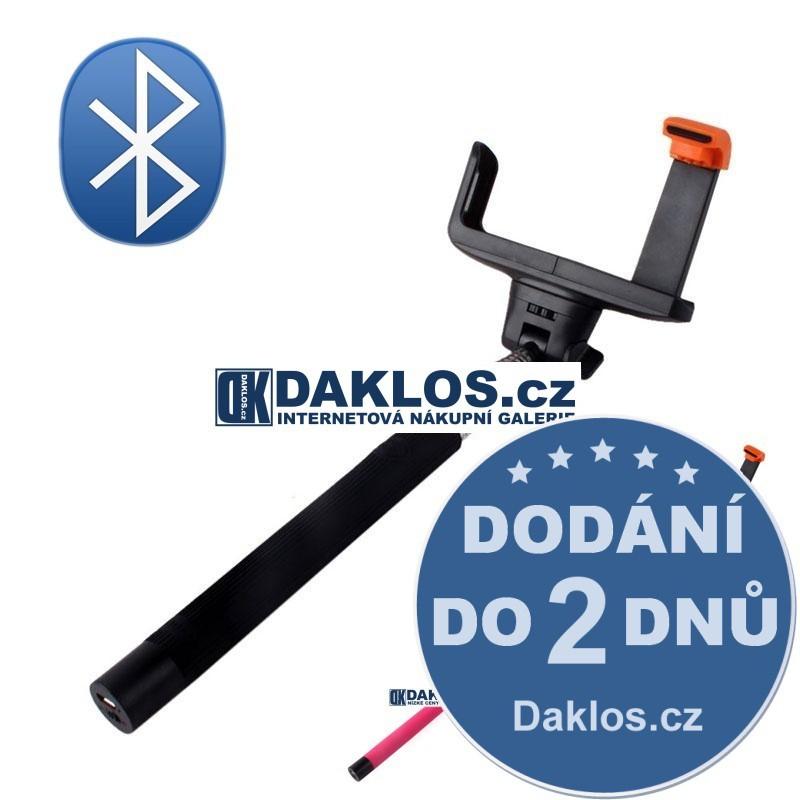 Bezdrátový Bluetooth stativ / selfie tyčka pro telefon IOS iPhone Android Phone, Barva Černá