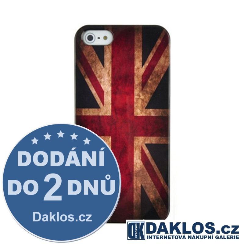 Plastový kryt s anglickou vlajkou pro Apple iPhone 5 5S SE