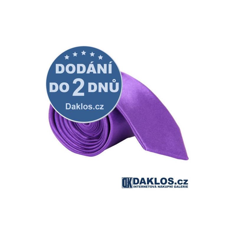 Luxusní světle fialová kravata - hedvábí / polyester