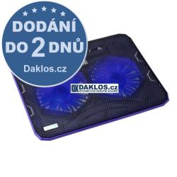 Chladící podložka pod / pro notebook s ventilátorem (2 ventilátory) - 2. Generace