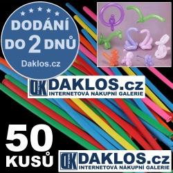Tvarovací dlouhé balónky - 50 kusů