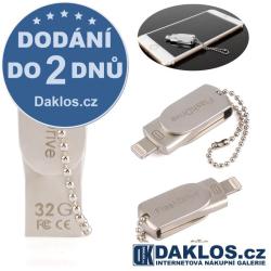 Mini USB Flash disk OTG 32 GB pro IOS iPhone / iPad / iPod - kovová + přechodka pro micro USB