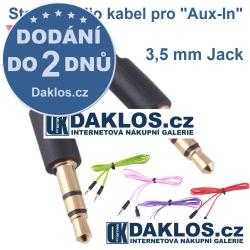 Stereo audio kabel pro připojení Aux-In pomocí 3,5 mm Jacku