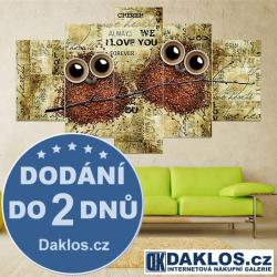 5x Obraz / Plátno / Plakát na zeď - Káva / Sovy