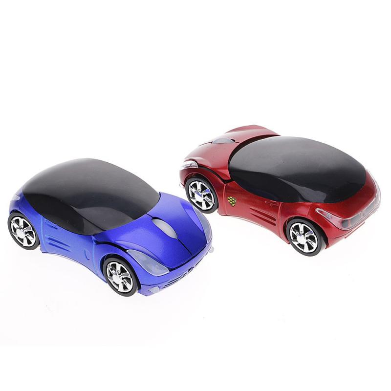 Optická bezdrátová myš ve tvaru auta - 4 barvy, Barva Černá