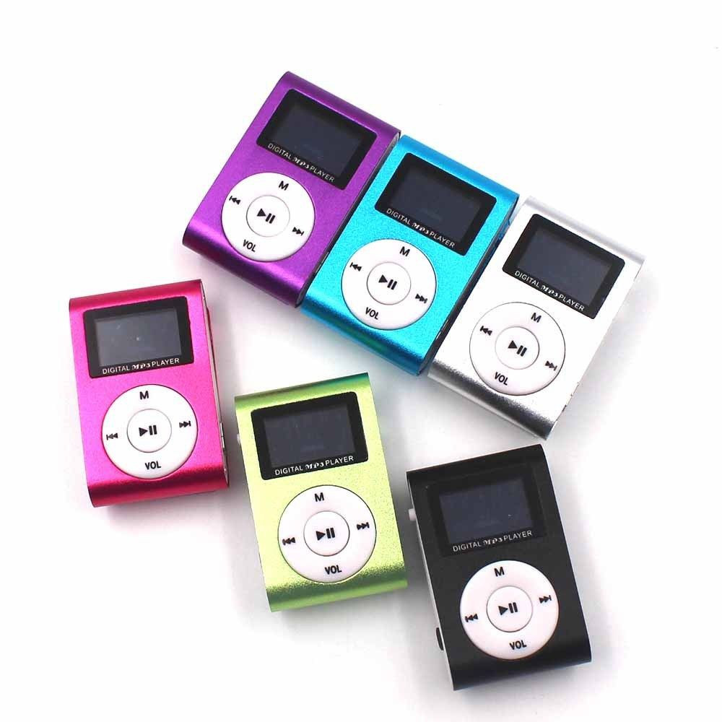 "MP3 přehrávač s 1"" LCD displejem, FM rádiem a slotem na mcro SD , Barva Růžová"