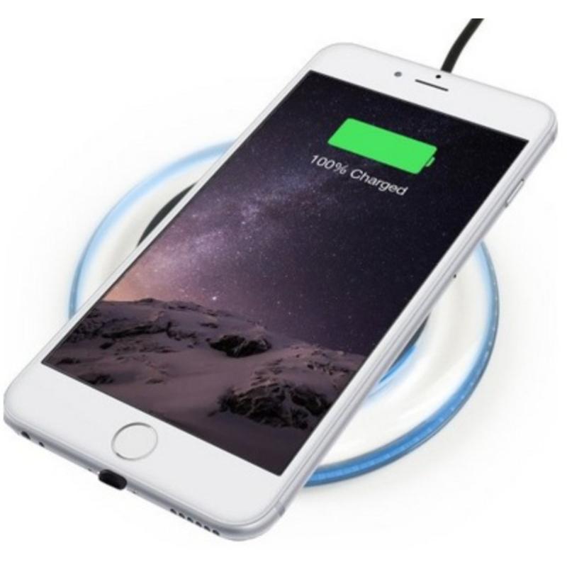Luxusní podložka pro bezdrátové QI nabíjení iPhone / Android s LED podsvícením