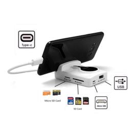 Redukce HUB / OTG držák pro USB-C USB 3 .1 s micro USB SD Micro SD