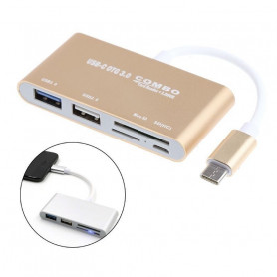 Redukce HUB / OTG pro USB-C USB 3 .1 s micro USB SD Micro SD