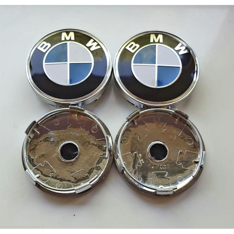 4x BMW 60mm středy kol, kryty, pokličky do kol - STANDARD