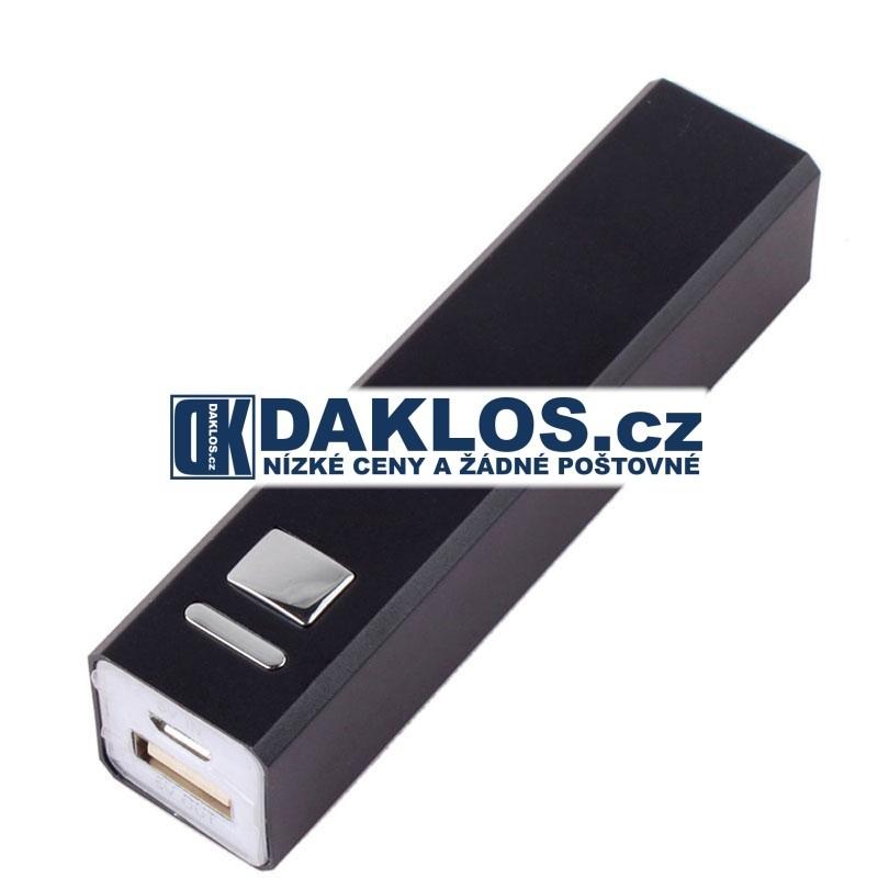 Externí USB nabíječka s 2600 mAh baterií / Baterie / Dokovací stanice, Barva Černá