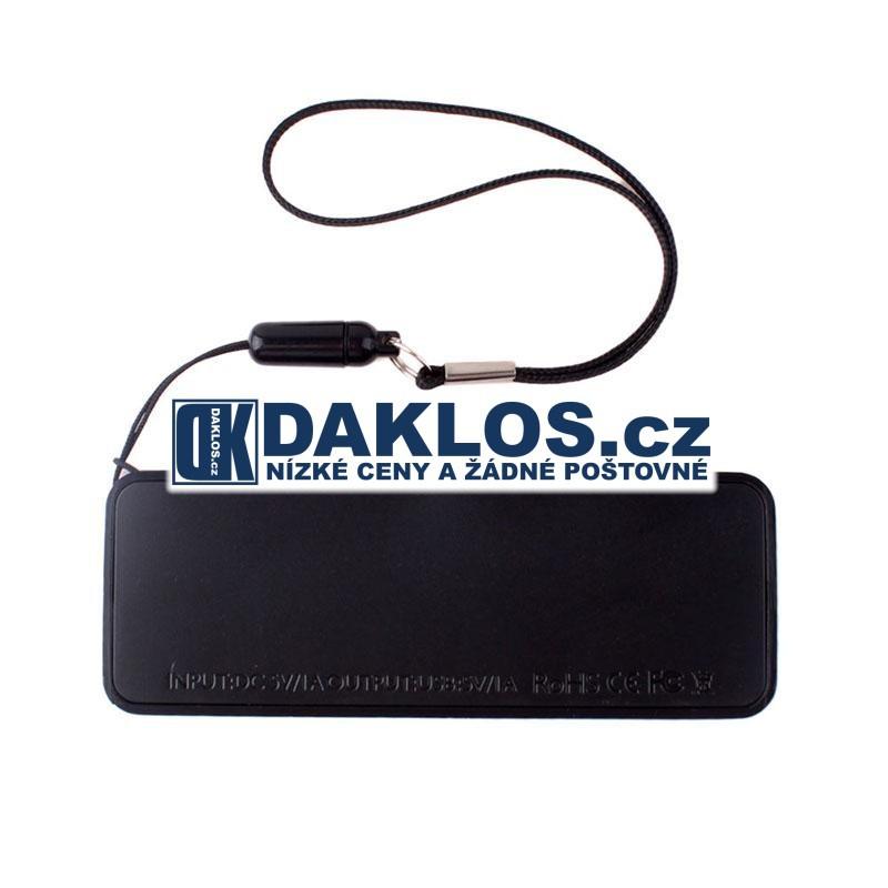 Externí USB nabíječka s 3000 mAh baterií / Baterie / Dokovací stanice, Barva Černá
