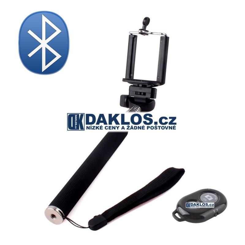 Bezdrátový Bluetooth stativ / selfie pro telefon IOS Android, Barva Černá