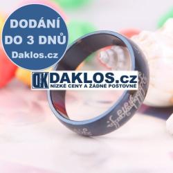 Prsten na motivy filmu Pán Prstenů - černý - 6 mm