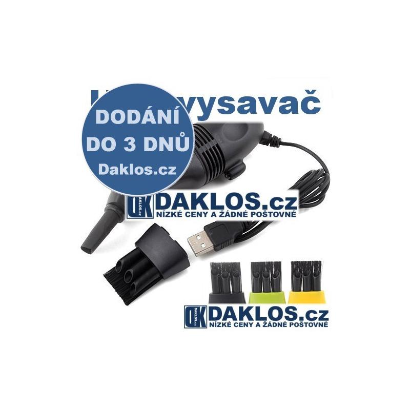 Mini USB vysavač na klávesnici - více barev, Barva Černá