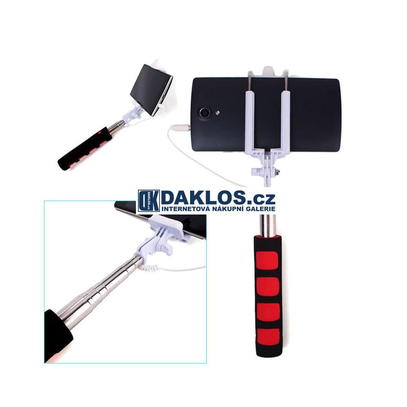 Stativ / selfie tyč pro telefon IOS / Android, Barva Zelená