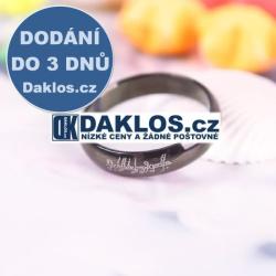 Prsten na motivy filmu Pán Prstenů - černý - 4 mm