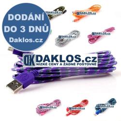 2 m - Datový a nabíjecí kabel z USB do Micro USB - styl pletený provázek