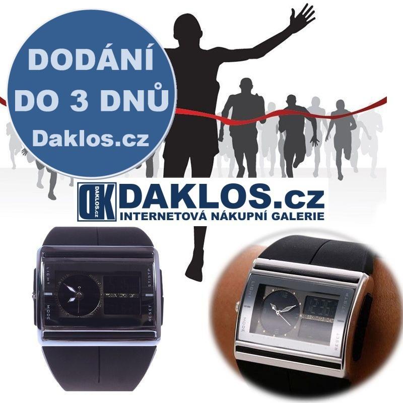 Digitální / Analogové voděodolné LED hodinky, Barva Černá