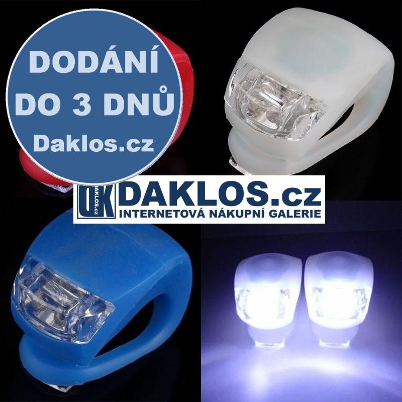 Přední LED světlo na kolo - 4 režimy - 4 barvy , Barva Černá