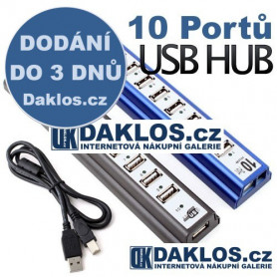 USB HUB rozbočovač - 10 portů