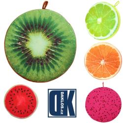 Polštář / Podsedák ve tvaru ovoce - kiwi, citrón, pomeranč, meloun