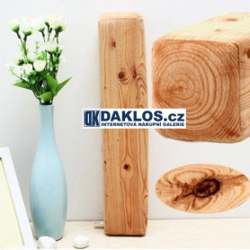 Polštář ve tvaru kusu dřeva - Fošna / Poleno / Dřevo
