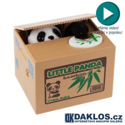 Panda v akci - kasička - pokladnička - zloděj mincí