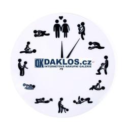 Nástěnné 3D hodiny sexu / sexuální polohy